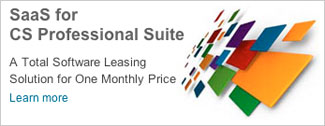 SaaS for CS Professional Suite - A Total Software Leasing Solution for One Monthly Price. Learn more