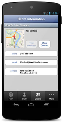 Up-to-date client and project data on your Apple or Android device with Mobile CS