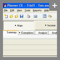 An inside look of Planner CS - our tax analysis software
