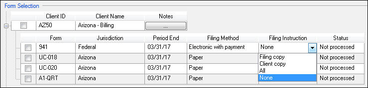 Printing Filing Instructions For Payroll Tax Forms