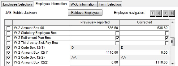 Csa How To Correct A Box 12 Code Or Box 15 State Id In W 2c Form