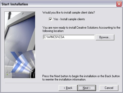 Installing the CS Professional Suite: Accounting Products