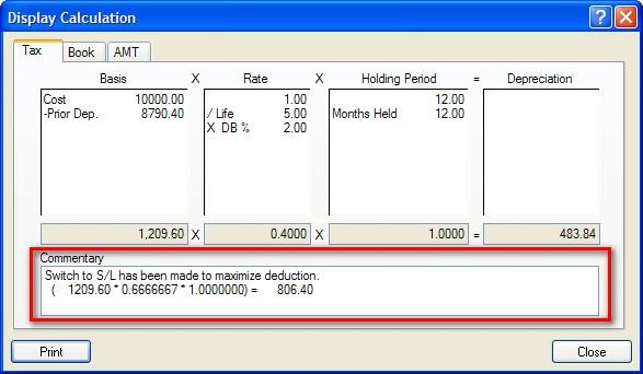 straight line depreciation calculation