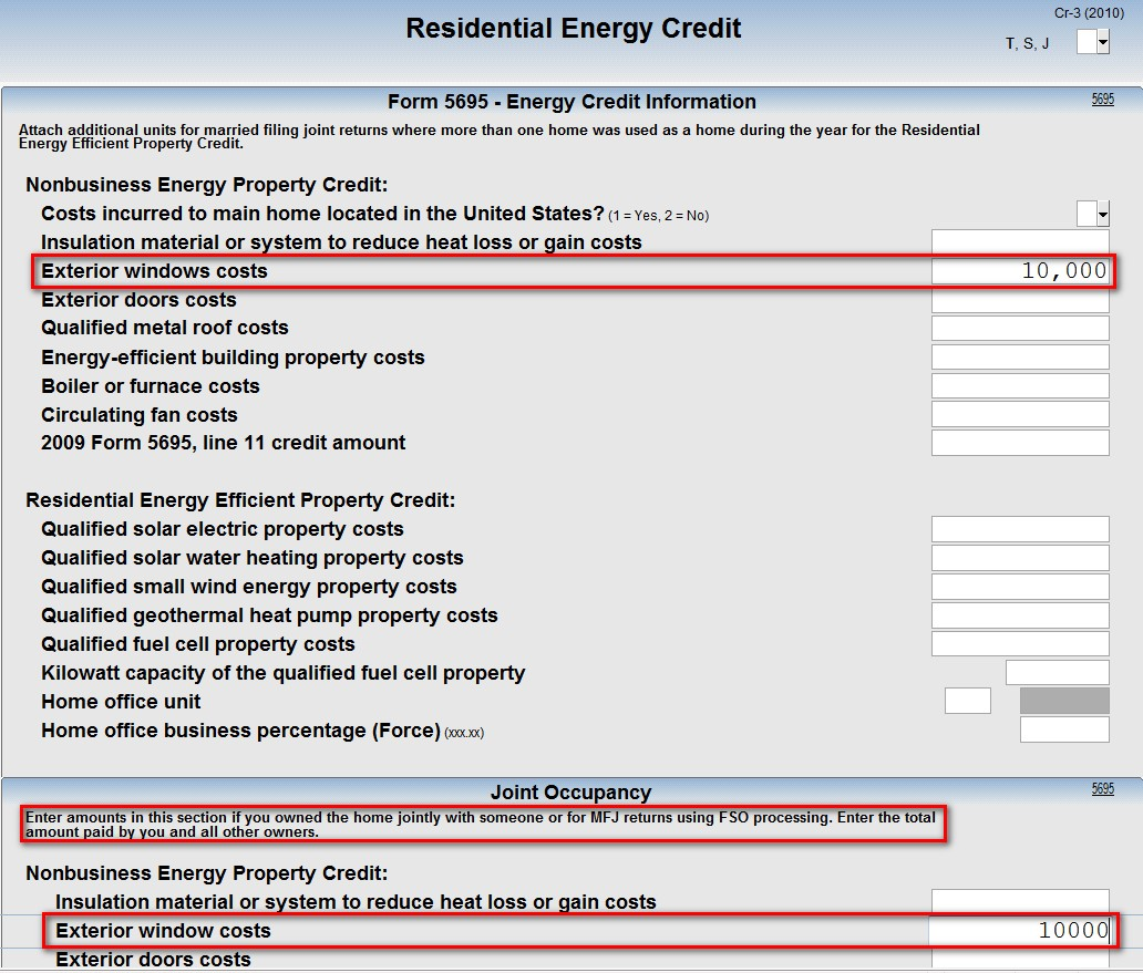 1040 - US: Filing Status Optimization and Form 5695 - Energy Credit ...