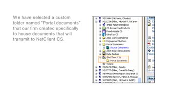 Choosing FileCabinet CS Documents for Transfer to NetClient CS Portals video screenshot