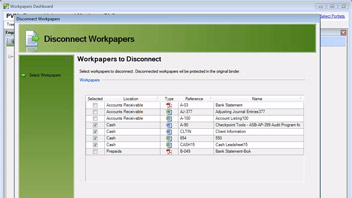 Disconnecting and Returning Workpapers in Accounting CS Workpapers video screenshot