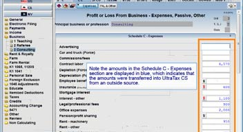 Importing Schedule C Data from Accounting CS into UltraTax CS video screenshot