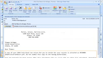 Sending Client Tax Returns by Email in UltraTax CS video screenshot