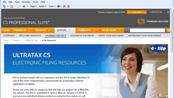 Viewing the State Electronic Filing Guide from UltraTax CS video screenshot
