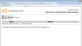 Viewing the Status of Electronic Files in UltraTax CS video screenshot