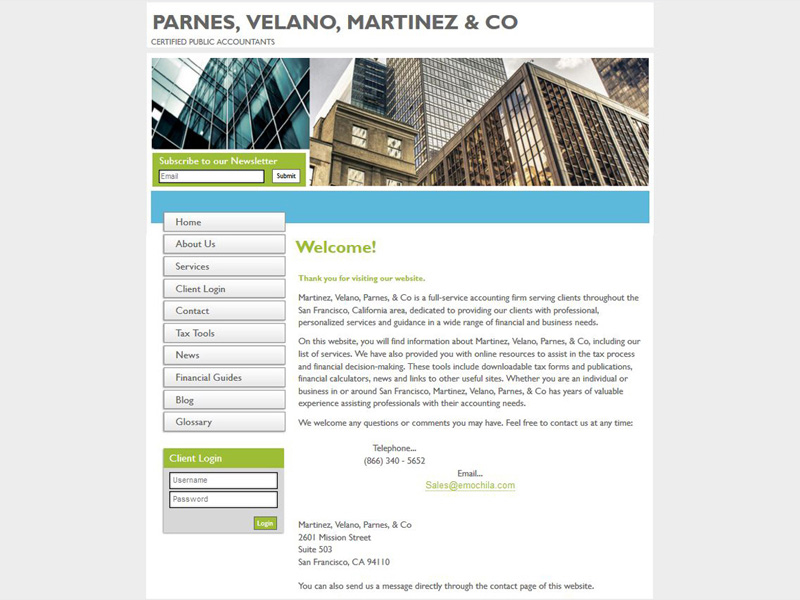 CPA Website Design - Free Accounting Website Templates