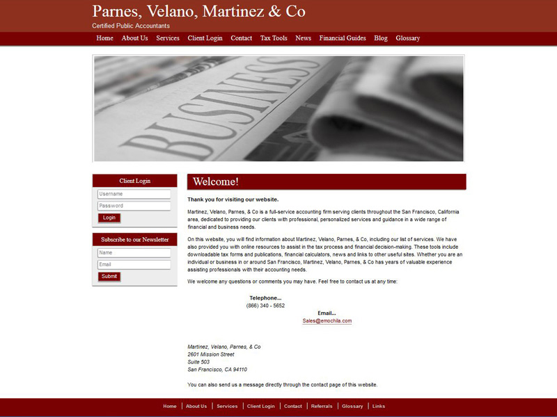 CPA Website Design Free Accounting Website Templates - Information website template